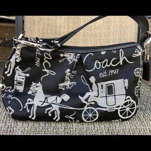 Coach black mini bag